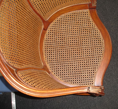 Chair seat recaned
