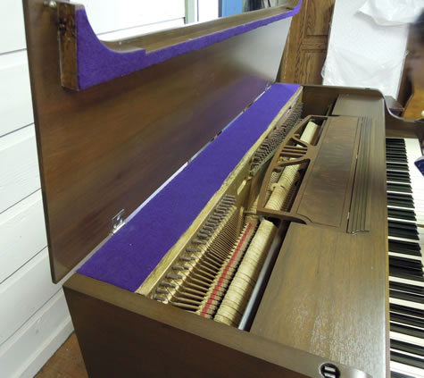 Piano Refnished by Kim's Wood Specialties